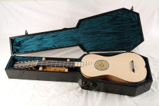 strad guitar in case