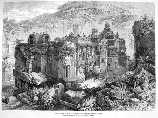 Kailasa temple drawing
